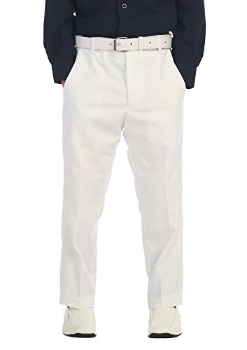 (Gioberti Boys Flat Front Dress Pants, White, 5)