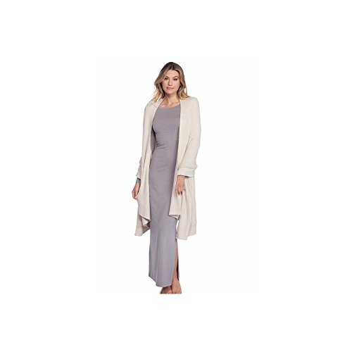 Cozychic Lite Travel Shawl, Women's Luxury Fashion Wrap Long Soft Sweater Shawl With Pockets-Bisque - By Barefoot Dreams
