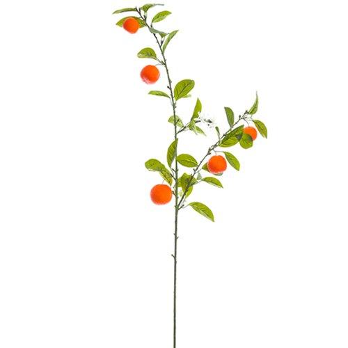 44'' Artificial Mandarin Orange Spray Branch -Orange (pack of 12) by SilksAreForever