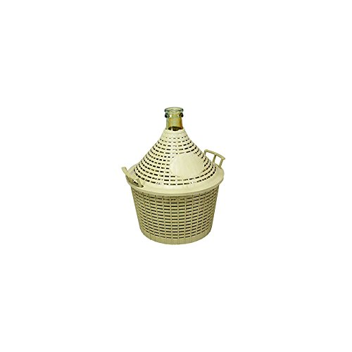Home Demijohn Glass Basket Plastic, 5 Lt Pengo 1900500