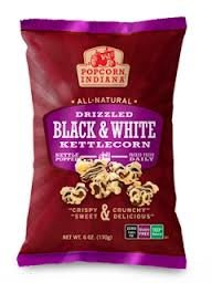 Popcorn, Indiana Drizzled Gluten Free Black & White Kettlecorn,6 oz. (Popcorn White Chocolate compare prices)