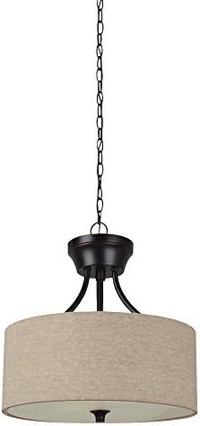 Rivet Modern Pull Chain Switch for Each Socket Table Lamp with Bulb, 22.8 H, Matte Black