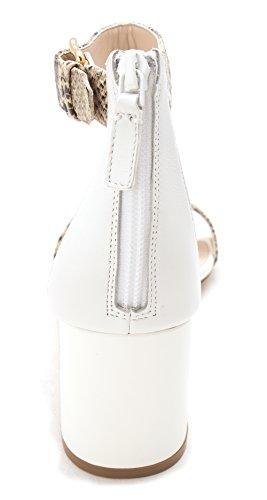 Sandali Con Cinturino Alla Caviglia Casual Da Donna Cole Haan Sandalo Open Toe In Pelle Bianca