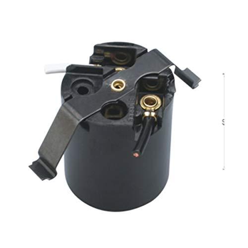 (TWDRTTD Phenolic (Bakelite) Medium Base E26 Fixture Socket, US Standard Lamp Holder for E26 Edison Screw led, Incandescent Bulbs, One-Piece Keyless with Butterfly clip, Black (3 PACK))