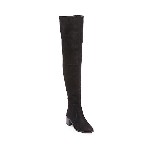 Stacked Womens Over nubuck Lancing Madden Nubuck Heel Black The Steve Boots Knee 5I7xUOww