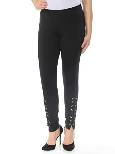 Michael Michael Kors Womens Lace-Up Skinny Skinny Pants Black 8