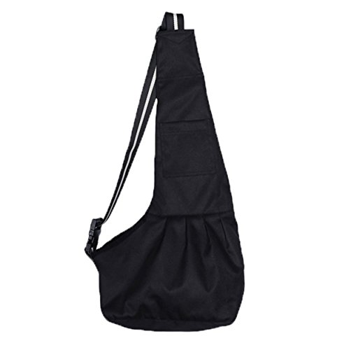 Prettysell Pet Dog Puppy Cat Carrier Bag Oxford Cloth Sling Single Shoulder Bag-Large,Black