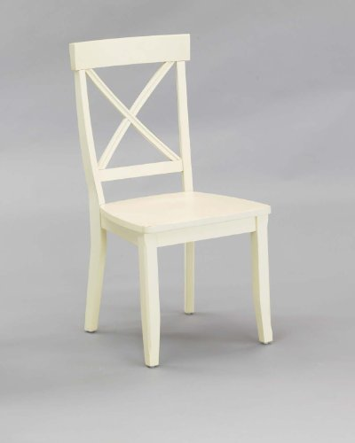 Cross Design Dining Chairs - Classic White Pair of Dining Chairs by Home Styles
