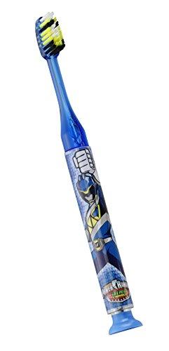 GUM Power Rangers Timer Light Toothbrush (Single Toothbrush) Soft Raised Inner Bristle, Packaging May Vary ()