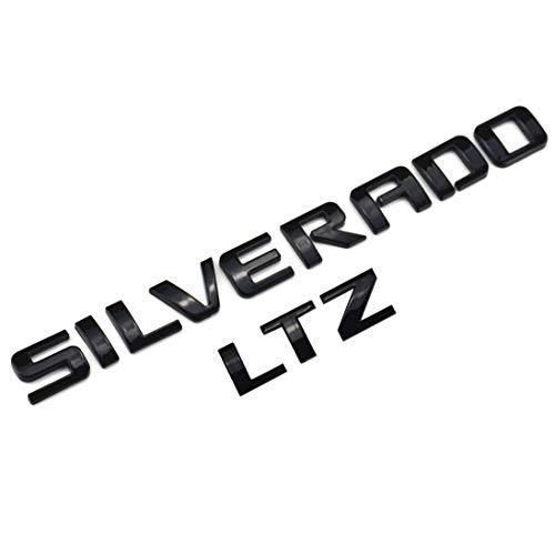 Aimoll 1pcs Silverado LTZ Nameplate Letter 3D Emblem Badge Replacement for Silverado 1500 2500HD 3500HD (Black)