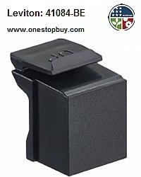 Leviton 41084-BE Blank Quickport Insert, 10-Pack, Black, (Leviton Blank Insert)