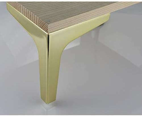 金属製の家具の足金の三角形のクロムソファチェア交換脚重いキャビネットの足(4個セット)