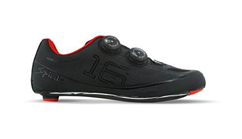 Spiuk 16 Road Carbono - Zapatillas unisex, color negro mate, talla 46 Negro mate