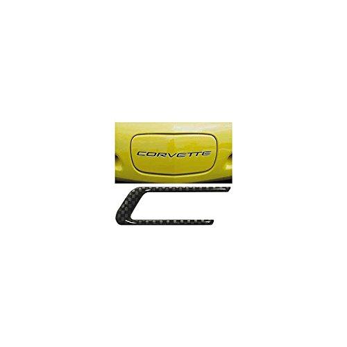 Carbon Corvette C5 - Eckler's Premier Quality Products 25126450 Corvette Front License Plate Filler Lettering Kit Carbon Fiber