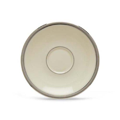 Lenox Tuxedo Platinum Ivory China Demitasse Saucer