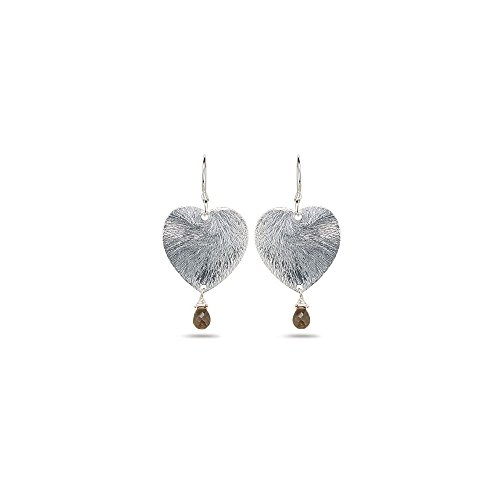 (2.00 Cts Smokey Quartz Earrings in Sterling Silver - Valentine's Day Sale)