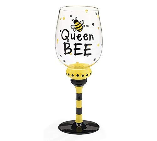 Bumble Bee Accessories - Queen Bee 16 oz Wine Glass/Goblet