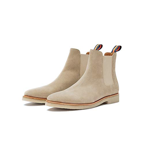 - New Republic Men's Chuck Suede Chelsea Boot with Crepe Outsole - Sand (15)