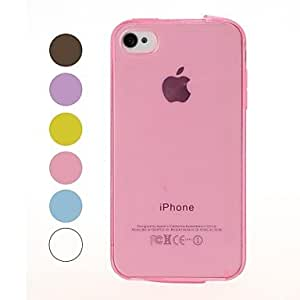 DUR Solid Color Smooth Surface Soft TPU Case for iPhone 4/4S , Blue
