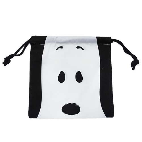 SMALL PLANET SMALL PLANET Peanuts Snoopy drawstring bag pouch face