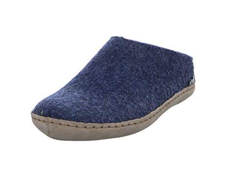 Denim Model - Glerups Unisex Model B Denim Slip-On Wool Slipper - EU 37
