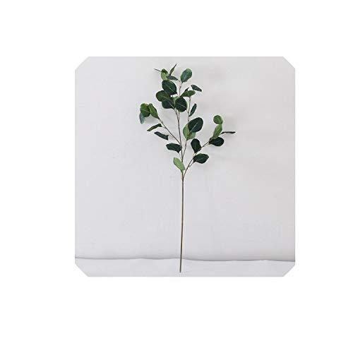 Single Branch 89cm Length Money Leaf Artificial Simulation Eucalyptus Leaf Wedding Home Decoration Green Plant,Drank Green