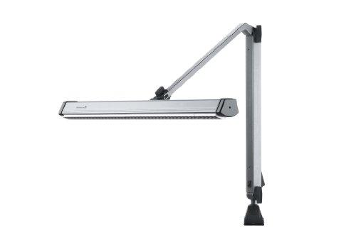 Cfl 55w - Universal Industrial Task Light, Arm On Left, Aluminum/Steel, Light Gray, 36