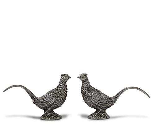 (Vagabond House Pewter Pheasants Salt and Pepper Shaker Set 2