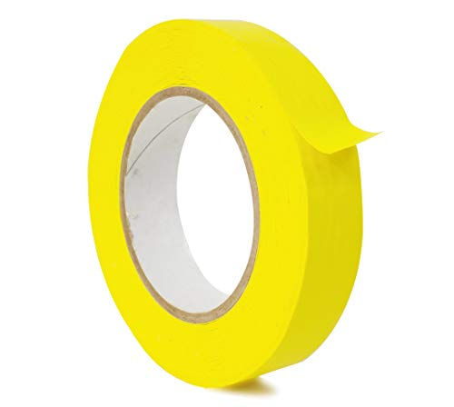 WOD CFB-60 Console Artist Tape Yellow - Flatback Paper Marking/Labeling Tape Residue Free - Acid Free (Available in Multiple Sizes & Colors): 1 in. X 60 yds (Pack of 1)