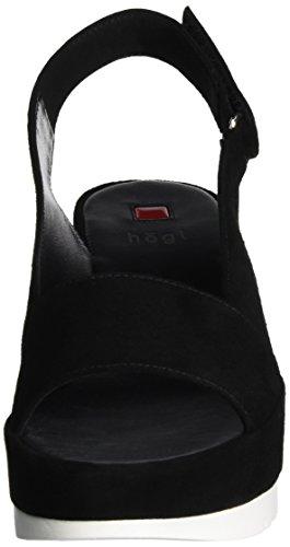 Högl 3- 10 3412, Sandalias de Cuñas Mujer Negro (Schwarz0100)