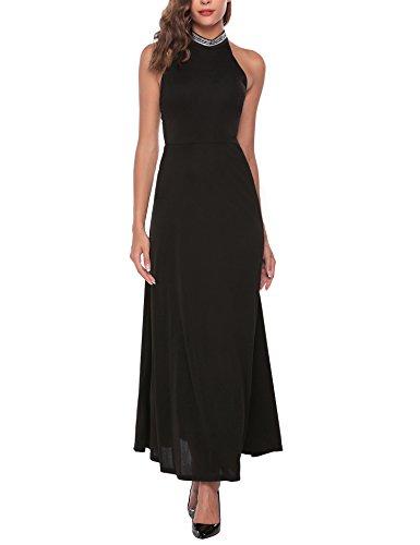 long black prom dress with diamonds - 5
