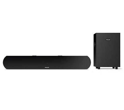 Philips HTL1031 2.1 Channel Soundbar Speakers with Subwoofer (Black)
