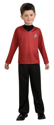Star Trek Movie Child's Red Shirt Costume with Dickie and Pants, Large -