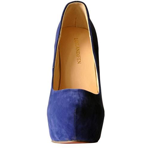 Highheels Party Fashion Uk5 Shoes Hot Blue Design Platform Seling Heels Court High Women Pumps New Stiletto Lady gqHdFSPH