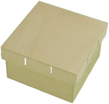 Caja madera. Tapa para cinta. Para pintar. Manualidades y decoración. Medidas (ancho/fondo/alto): 15 * 15 * 8 cms.: Amazon.es: Hogar