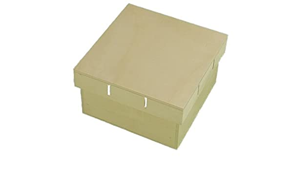 Caja madera. Tapa para cinta. Para pintar. Manualidades y decoración: Amazon.es: Hogar