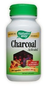 Activated Charcoal - 280mg 100 Caps [Pack of 4]