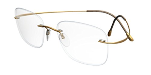 Silhouette Eyeglass the Must Collection Gold 7610-6051 by Silhouette