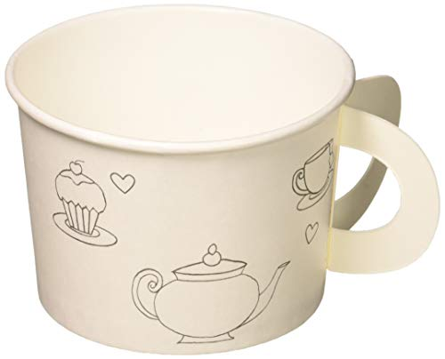 Creative Converting Tea Time Tea Party Decorate Your Own Favor Cups (6 ct) -