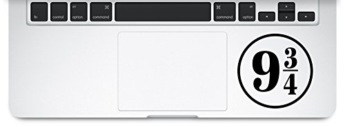 Platform 9 3/4 Hogwarts Harry Potter Decal Macbook Laptop Sticker