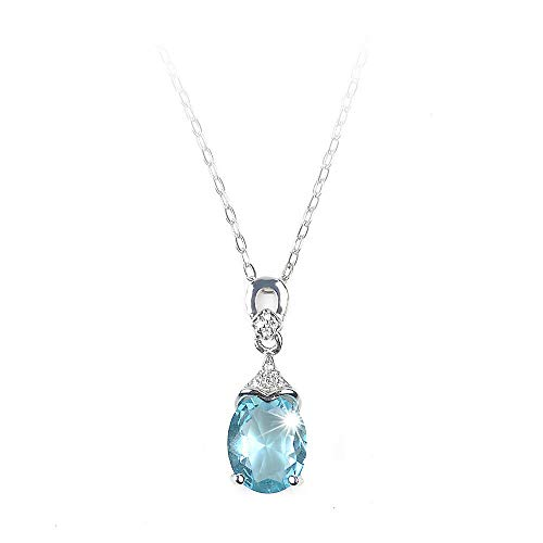 ERAWAN Vintage Gemstone Silver Natural Aquamarine Jewelry Pendant Chain Necklace New EW sakcharn