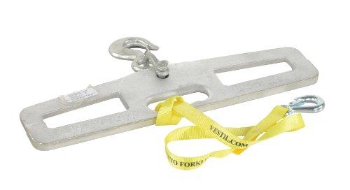 Vestil LM-HP4-R Steel Lift-Master Hook Plate, Rigid Hook, 4000 lb. Capacity, 6