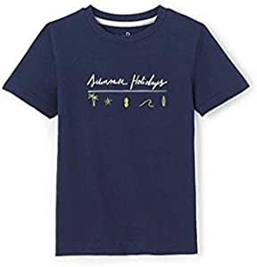 ABCD' R T-Shirt for Boys, Navy