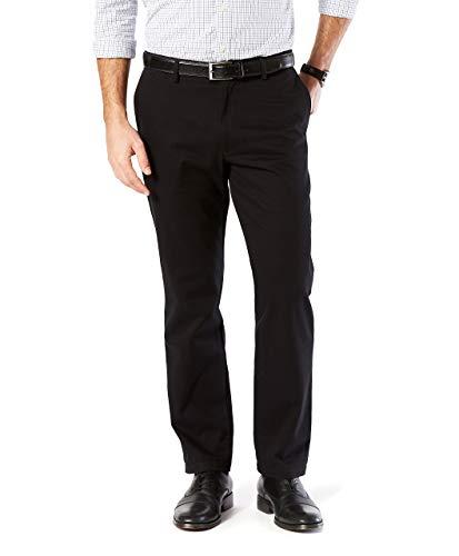 Stretch Khakis Black - Dockers Men's Straight Fit Signature Khaki Lux Cotton Stretch Pants, Black, 32 34