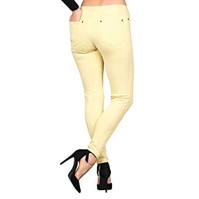 Lildy Women's Denim Jeggings, Stretchable Cotton Blend at Women's Clothing store