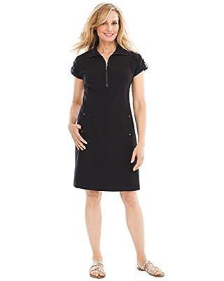 Chico's Women's Zenergy Neema Half-Zip Dress