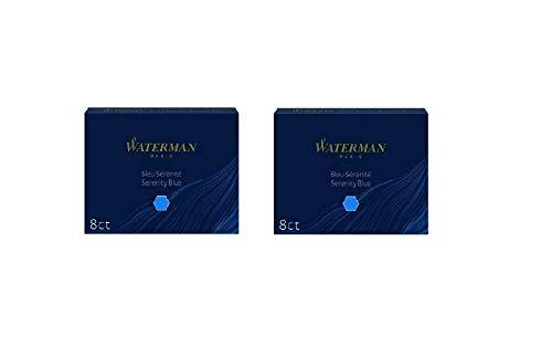 Waterman Fountain Pen Refills - Blue, 8 Cartridges (2-Pack) (Best Waterman Fountain Pen)