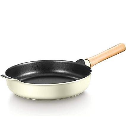 MONFS Home Sartenes Woks y Stir-Fry Sartenes Light Luxury Pan Antiadherente Sartén Cocina de