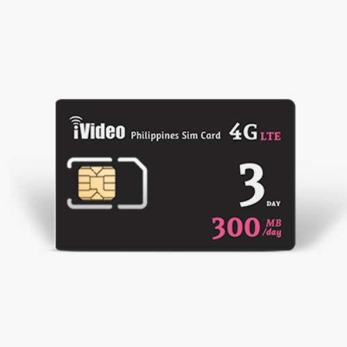 iVideoWiFi Philippines SIM Card Prepaid Unlimited Data 300MB/Day in 4G  Speed (3 Days)