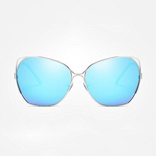 Style Mirror Bright Classic New Ms Box Sunglasses Blue Big Driving Fashion Polarized Sunglasses Awqa5aC